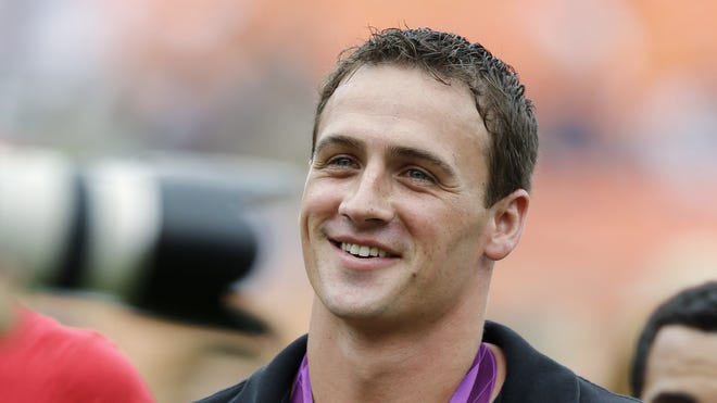 Olympic swimmer Ryan Lochte was on ESPN's 'College GameDay' on Saturday in Florida.