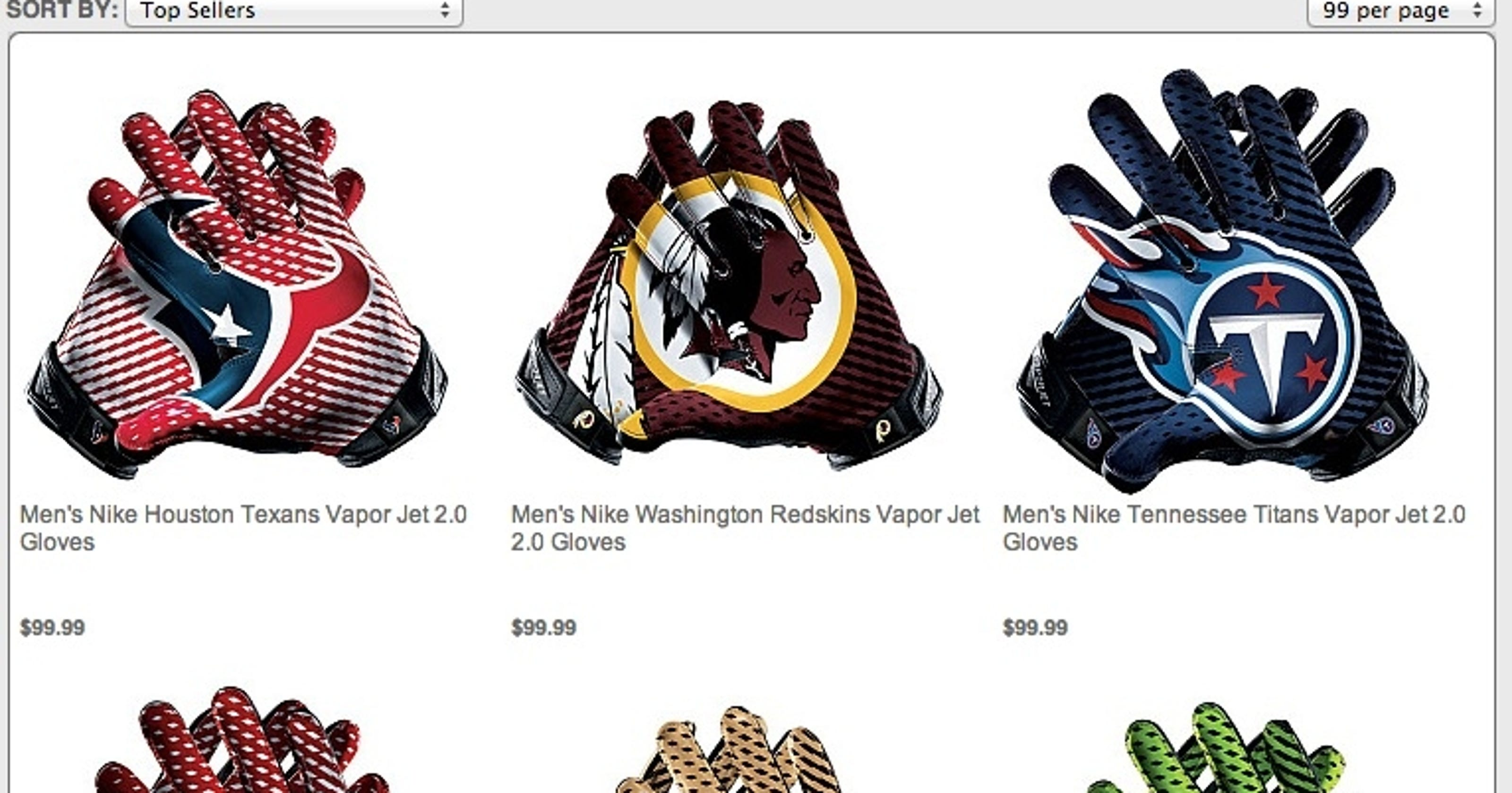 The NFL and Nike are selling those hideous wide receiver gloves 2f66c0d20