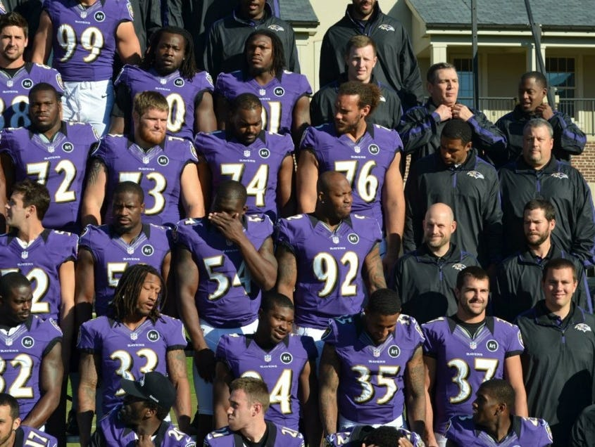 Terrell Suggs and Haloti Ngata switched jerseys for Ravens team ...
