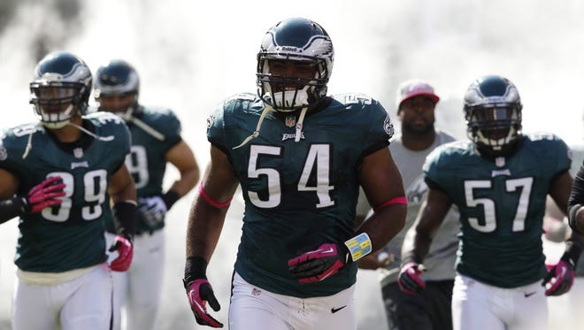 Brandon Graham (54) and the Eagles defense have squandered their share of fourth-quarter leads in the last 22 games.