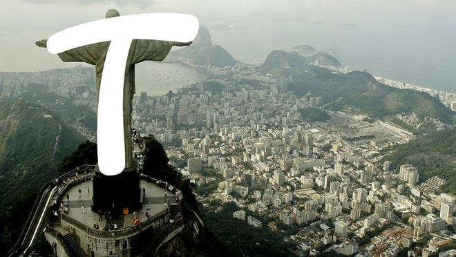 """The """"t"""" in Rio's official font looks like The Redeemer statue, just like all other """"T""""s do."""