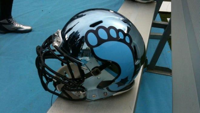 North Carolina is wearing some interesting helmets.
