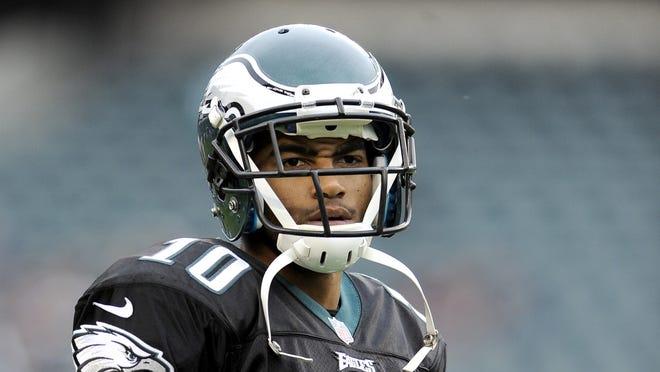 Philadelphia Eagles wide receiver DeSean Jackson before Sunday's game against Atlanta.