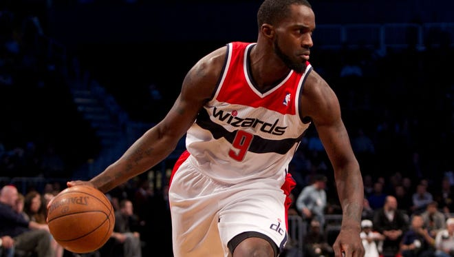 Wizards guard Martell Webster dribbles in a preseason game.