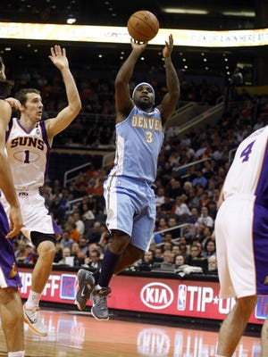 Guard Ty Lawson (3) has agreed to a contract extension with the Denver Nuggets.