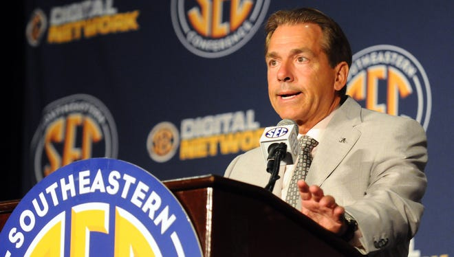 It can be hard to get a question in to Alabama coach Nick Saban, but USA TODAY Sports college football reporter Paul Myerberg is ready to help.