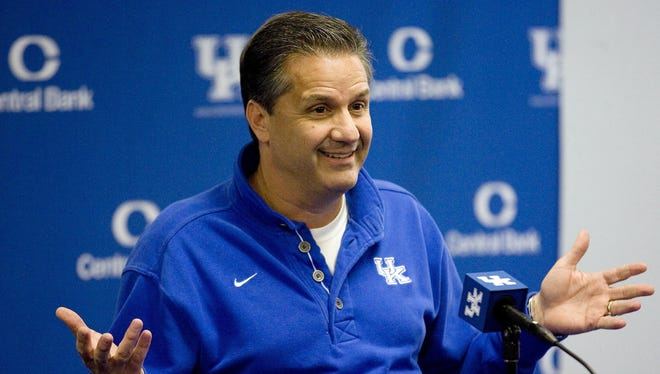 John Calipari and the Kentucky Wildcats are ranked No. 3 in the USA TODAY Sports' preseason coaches poll.