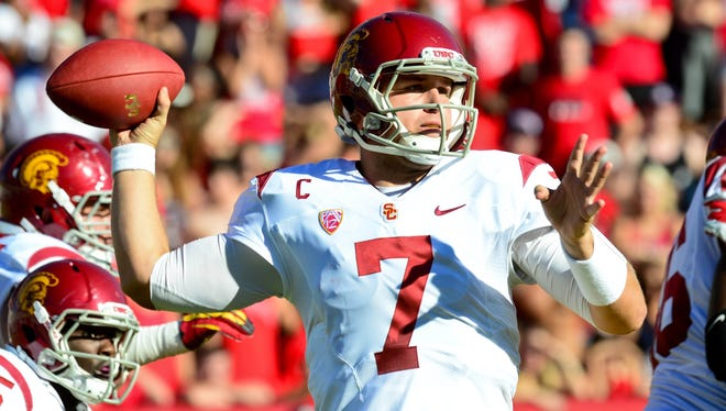 Matt Barkley and the USC Trojans are looking to get back on track as they host Oregon on Saturday.
