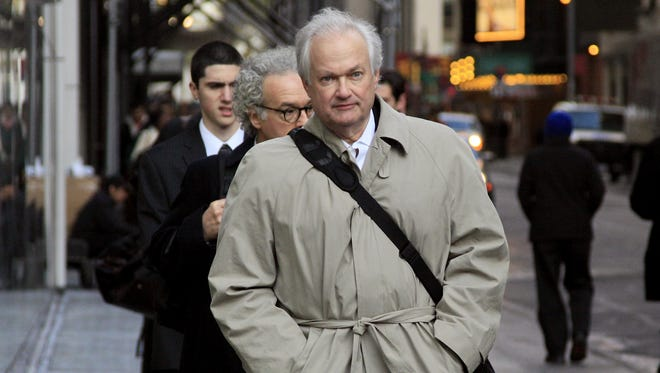 National Hockey League Players' Association executive director Donald Fehr arrives for talks with the NHL on Friday.