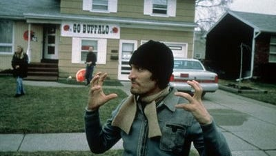 """Vincent Gallo's character in """"Buffalo '66"""" is no longer the most ridiculous Bills fan in existence."""
