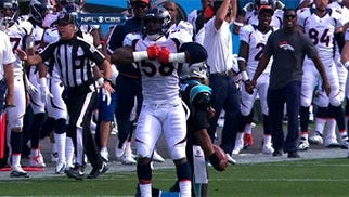 Von Miller didn't mean disrespect by doiong Newton's dance directly over him
