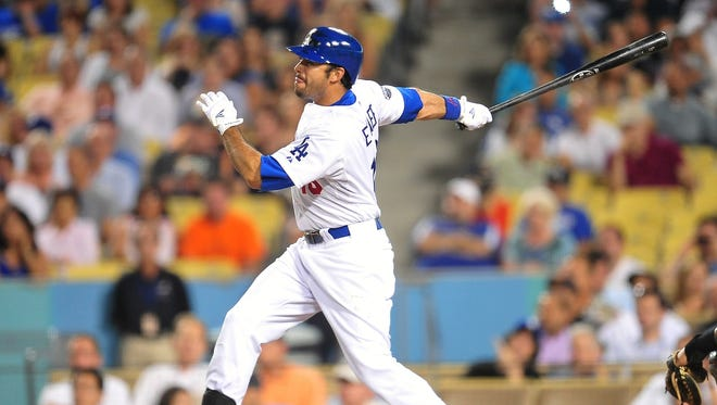 Andre Ethier batted .284 with 20 home runs and 89 RBI last season.