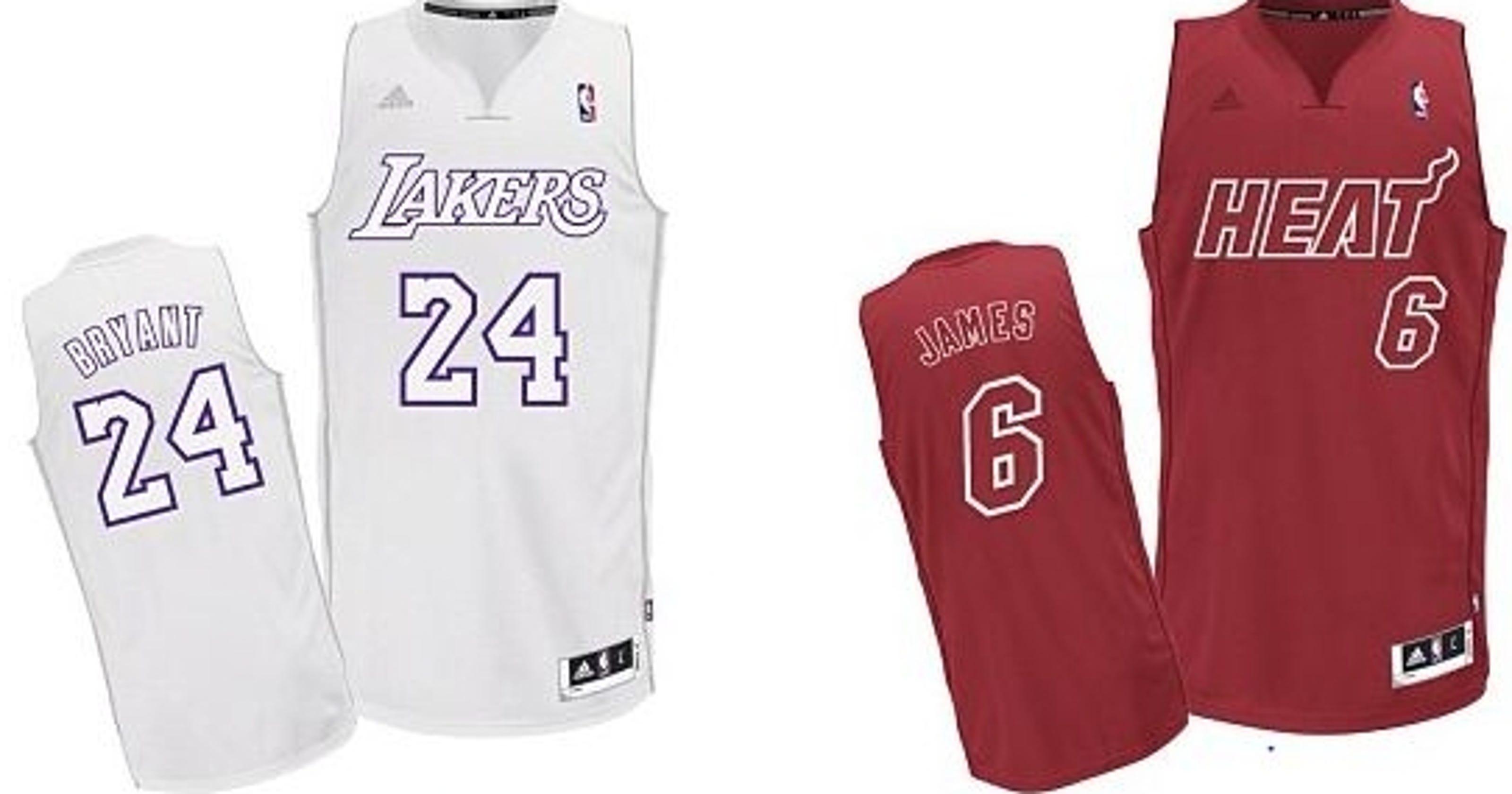 7da3b9d1b Christmas Day NBA jerseys unveiled for 2012 games