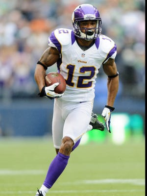 Minnesota Vikings injured receiver Percy Harvin is out Sunday vs. the Chicago Bears.