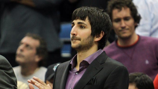 Minnesota Timberwolves guard Ricky Rubio (9) claps during a game this season. Rubio is expected to return from his knee injury in December.