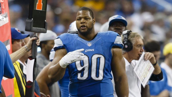 Detroit Lions defensive tackle Ndamukong Suh will be in uniform for his team's game Sunday versus Indianapolis.