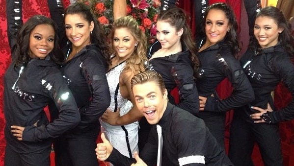 The Fierce Five joined Shawn Johnson on 'DWTS.'