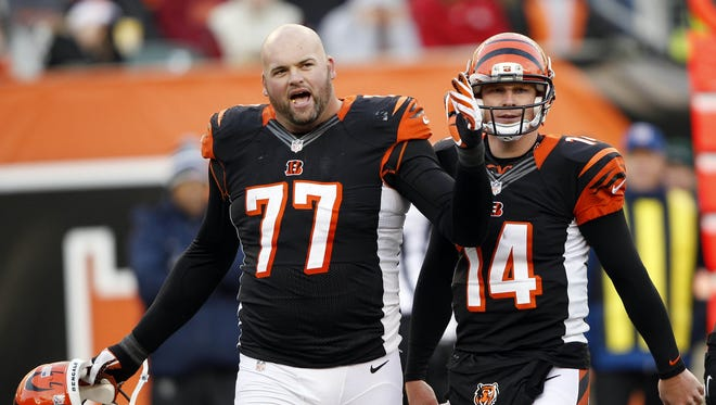 Cincinnati Bengals' teammates Andrew Whitworth and Andy Dalton don't have any reason to complain with their ascent in this week's NFL Power Rankings.