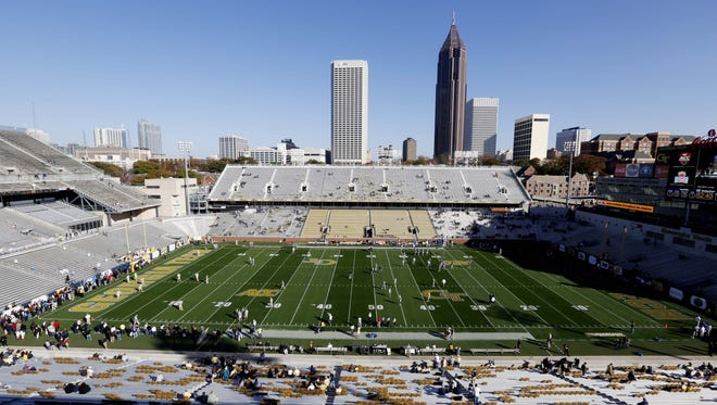 Bank of America Stadium could feel as empty as  Georgia Tech's home field during warmups earlier this year.