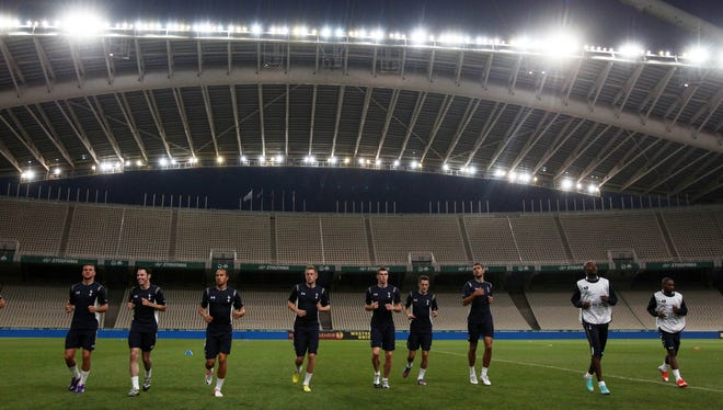 Panathinaikos is behind on the electric bill at Olympic Stadium in Athens.