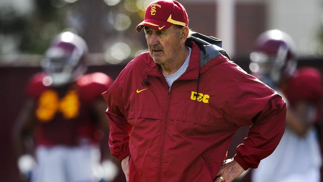 Monte Kiffin is leaving USC in hopes of returning to the NFL.