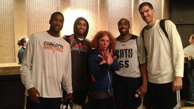 The Bobcats don't get to hang around too many famous people, apparently