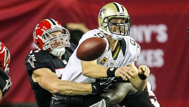 Saints quarterback Drew Brees had the worst game of his career Thursday night against the Falcons.