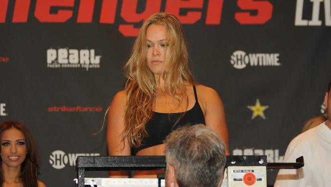 Mixed martial artist Ronda Rousey