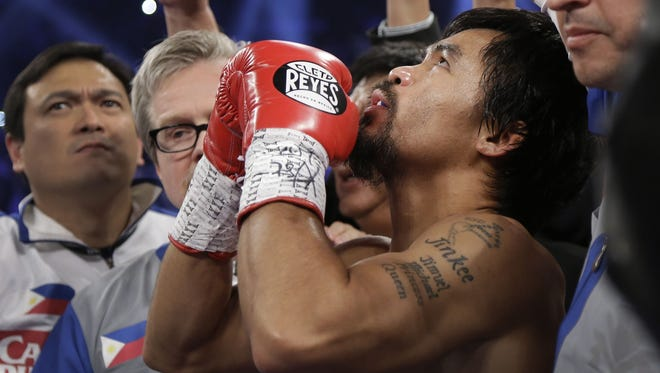 Manny Pacquiao says a final prayer before facing Juan Manuel Marquez. But since it wasn't a Catholic prayer, Pacquiao's mother believes her son had the devastating knockout loss coming to him.