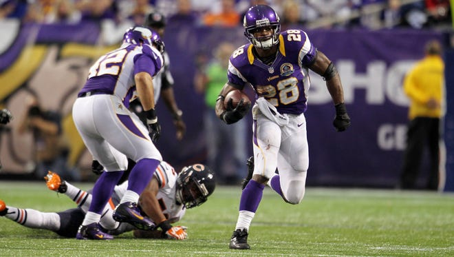 Vikings running back Adrian Peterson is having an unbelievable season just one year after tearing his ACL.