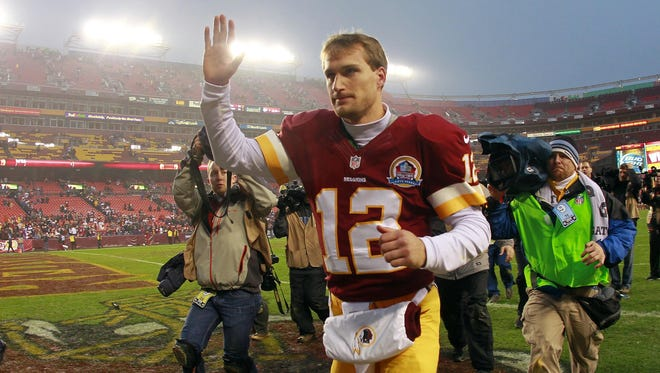 Redskins rookie quarterback Kirk Cousins will get the start Sunday against the Browns.