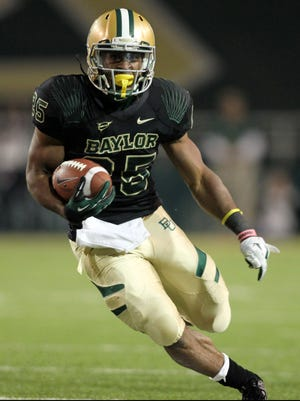 Baylor running back Lache Seastrunk ran for a season-high 185 yards and a touchdown against then-undefeated Kansas State on Nov. 17.
