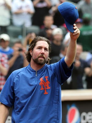 R.A. Dickey's 20th win came at home on Sept. 27.