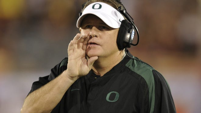 Not surprisingly, Oregon's Chip Kelly is part of the Eagles' initial list of five candidates.