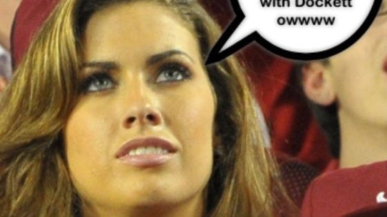 Darnell Dockett tweeted a picture national championship star Katherine Webb with a speech bubble