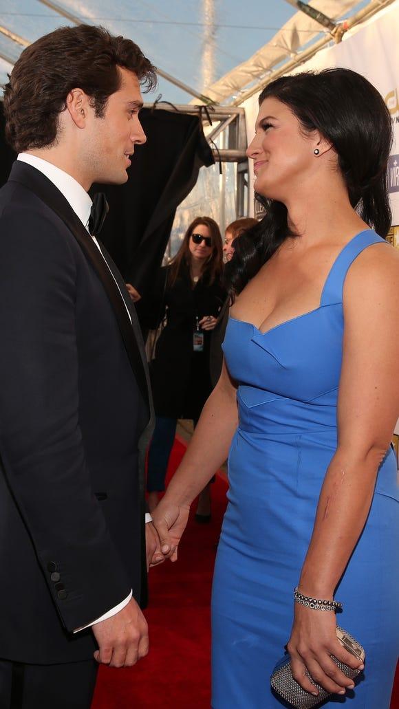 Gina Carano, ex-MMA star, shows off Superman boyfriend ...