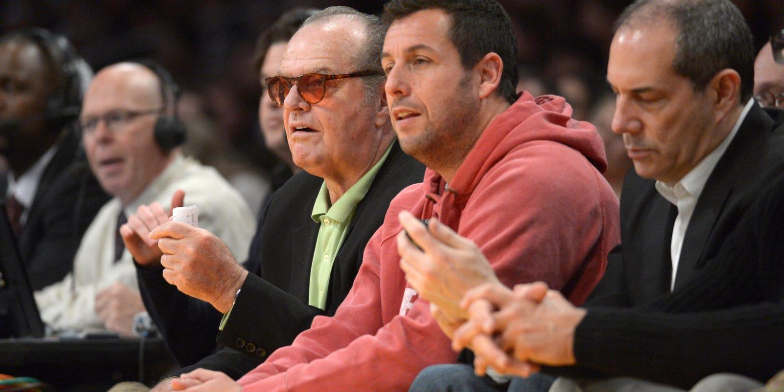 Jack Nicholson Adam Sandler Walk Out Early On Lakers