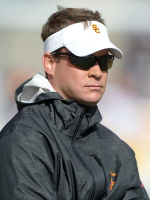 USC's Lane Kiffin angered a California high school after pushing a player's scholarship back from the spring semester to the fall.
