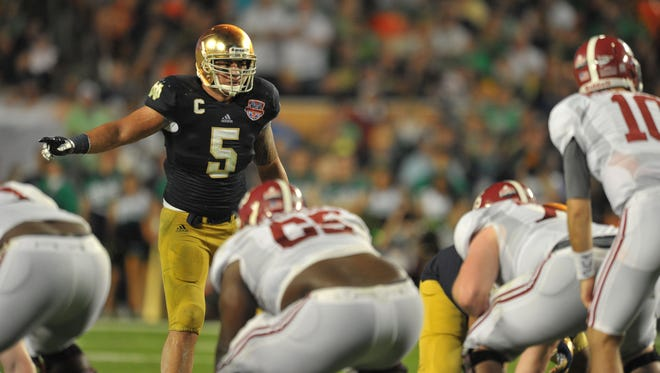 Notre Dame linebacker Manti Te'o says he's the victim of a hoax surrounding his former girlfriend.