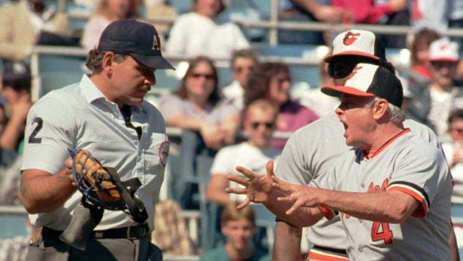 Earl Weaver, shown in 1985, rarely let umpires off the hook easily.