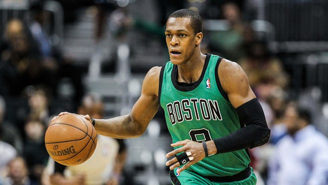 The Boston Celtics were without injured point guard Rajon Rondo on Sunday vs. the Miami Heat.