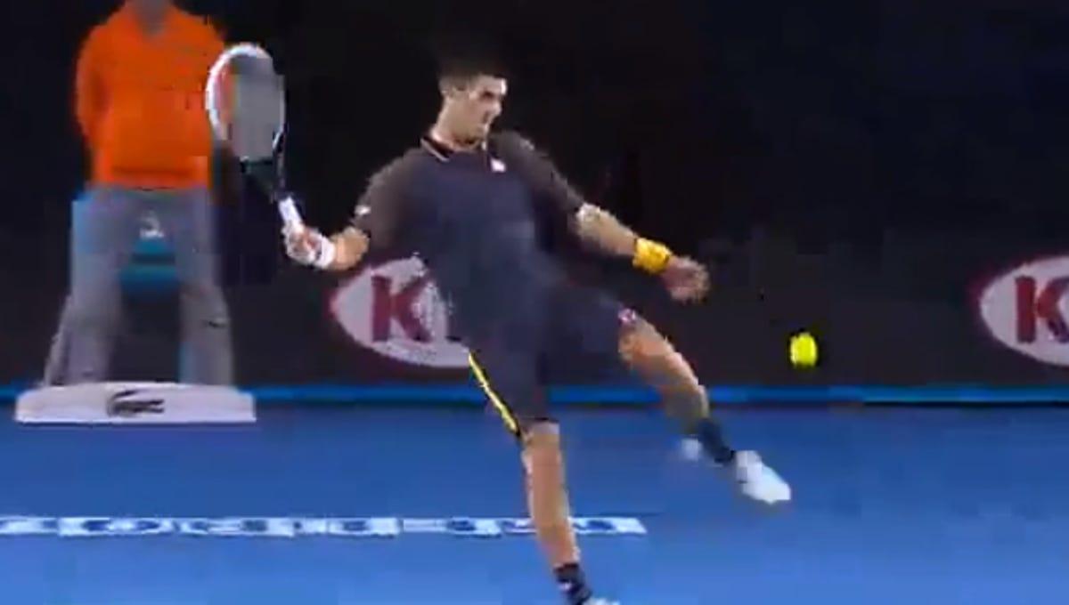 Frustrated Novak Djokovic Kicked A Tennis Ball Nearly 100 Feet