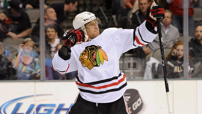 Marian Hossa leads the Blackhawks with five goals thus far.