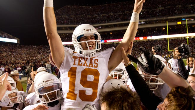 A Texas state legislator hopes to renew the rivalry between the Longhorns and Aggies. Texas beat A&M 27-25 in 2011, the last meeting between the two teams.