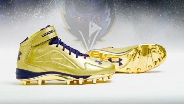 Ray Lewis' Super Bowl XLVII cleats.