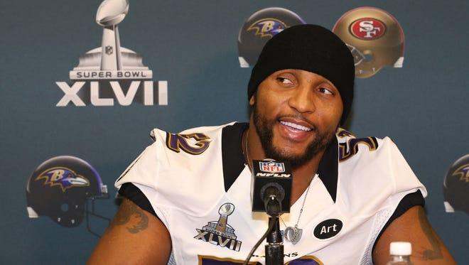 Baltimore Ravens linebacker Ray Lewis.