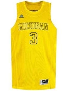Michigan's all-maize jersey for Tuesday's showdown against Ohio State.
