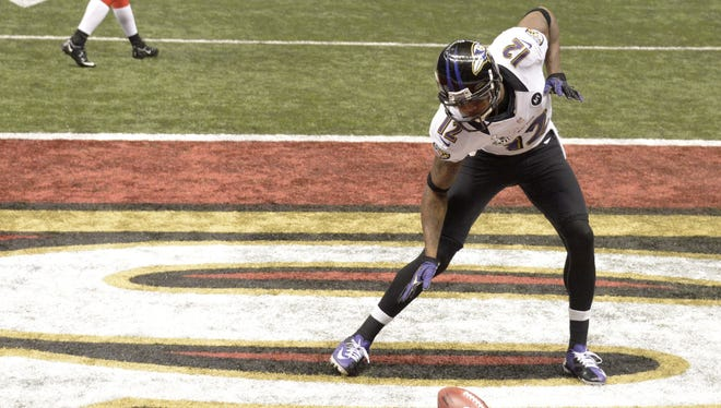 Jacoby Jones spent a lot of Super Bowl XLVII dancing in the end zone.