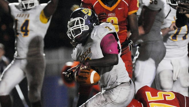 Plantation, Fla., running back Alex Collins is expected to sign with Arkansas on Thursday.