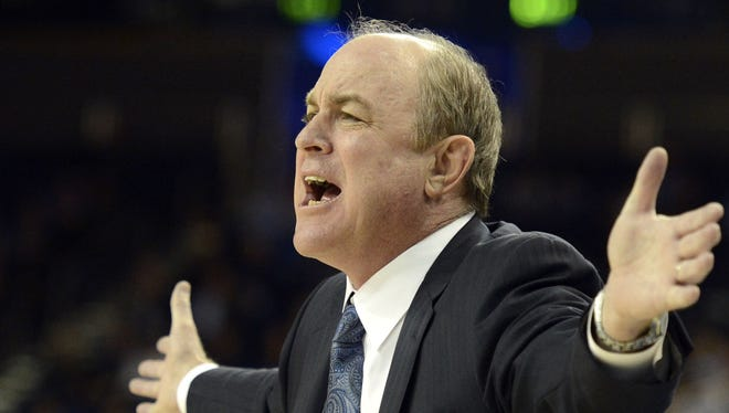 UCLA coach Ben Howland reacts during his team's game against Washington on Feb. 7.